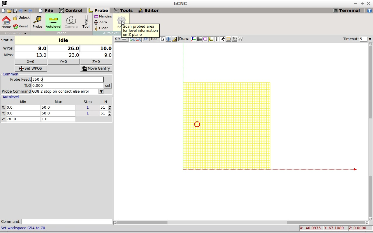 Scan surfaces with bCNC Autolevel and Meshlab