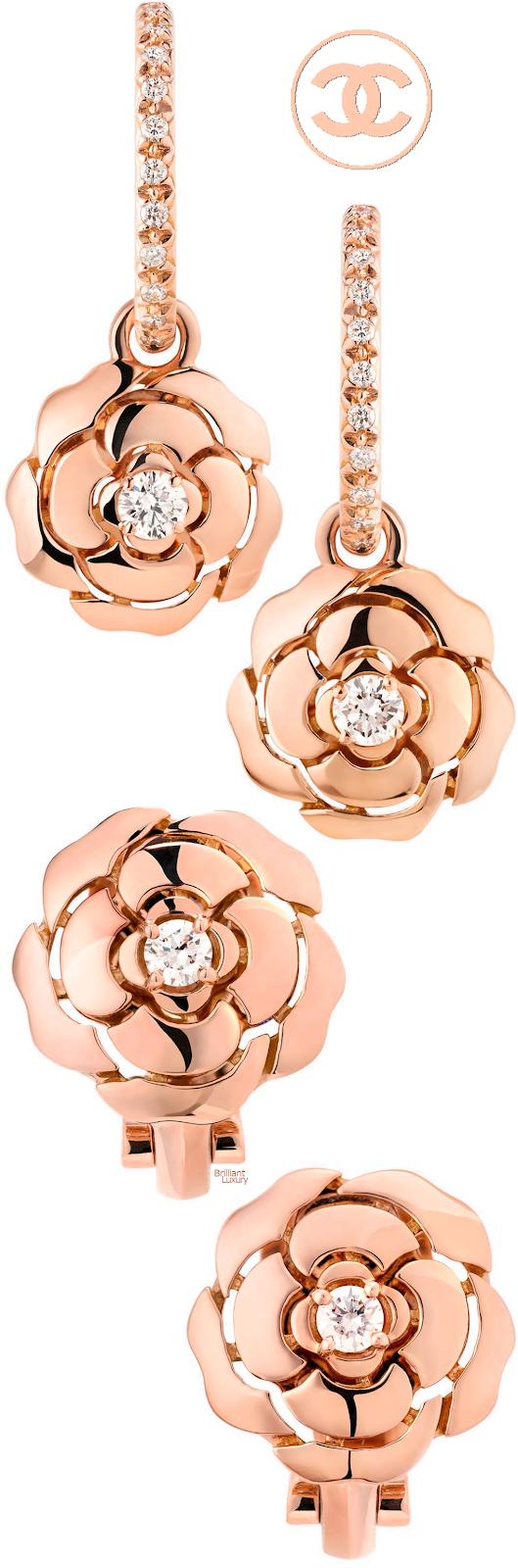 Brilliant Luxury♦Chanel Camélia earrings