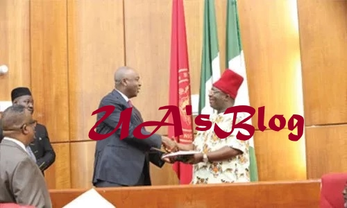 Umeh takes oath of office as senator, calls for restructuring