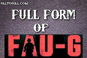 What is the full form of  FAU-G? ||FAU-G full form name. What does FAU-G stands for?