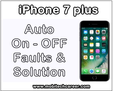 mobile, cell phone, iPhone, smartphone, iphone, repair, how to, fix, solve, Apple iPhone 7 Plus, phone auto on-off faults, automatic switch off problems, solution, kaise kare, hindi me, tips, guide in hindi.