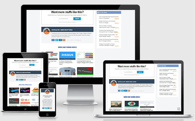 responsive multi author box with social icons for blogger