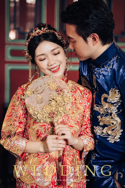 龍鳳掛婚紗 林家花園 中國風婚紗 台北婚紗推薦