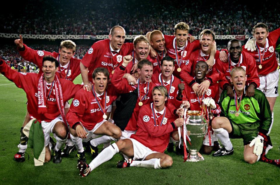 premier league treble champions man united 1999 squad