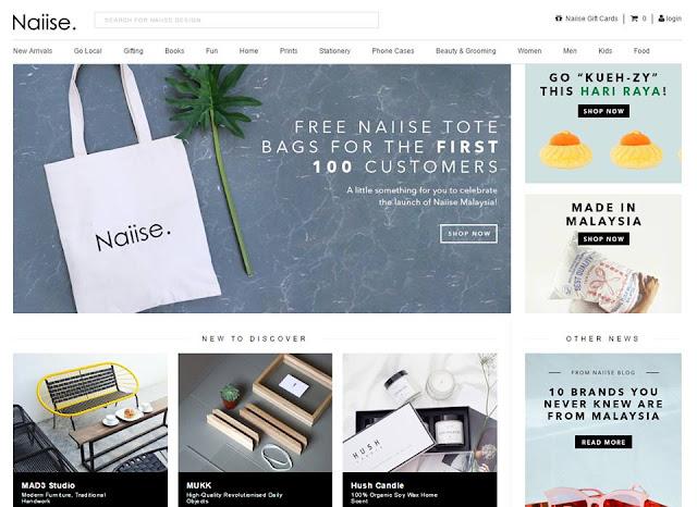 Naiise Malaysia website