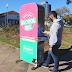 Bento Gonçalves recebe equipamentos que fornecem álcool em gel gratuito à população