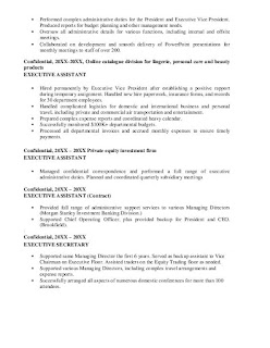 Executive Personal Assistant Resume Examples