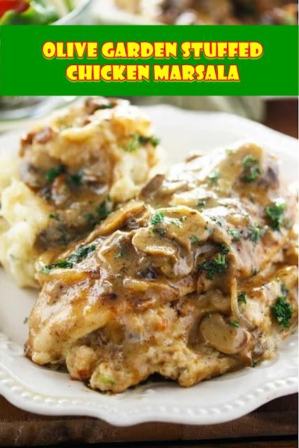 #Olive #Garden #Stuffed #Chicken #Marsala