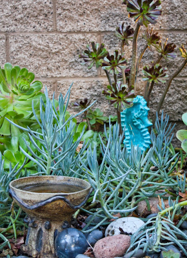 Blue Seahorse Vintage Garden Sculpture Statue