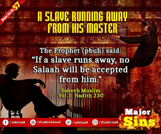 MAJOR SIN. 57.2. A SLAVE RUNNING AWAY FROM HIS MASTER