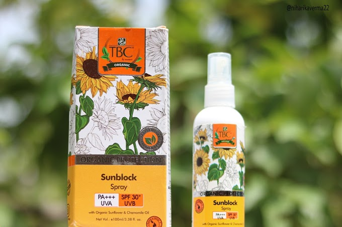 TBC By Nature SPF 30+ PA+++ Organic Sunblock Spray - Sweat and Water Resistant Sun Protection | Review