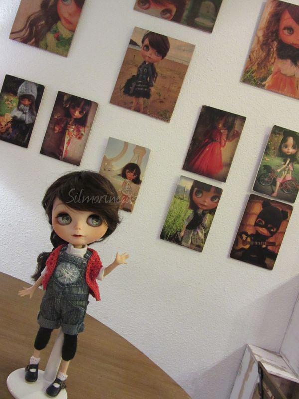 Exposición de transferencias a madera, con fotos de Caty por silmarinecas.com