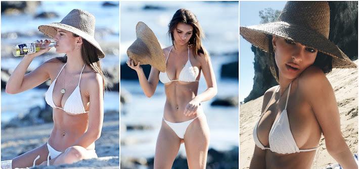 Emily Ratajkowski in spiaggia: il lato b è da urlo