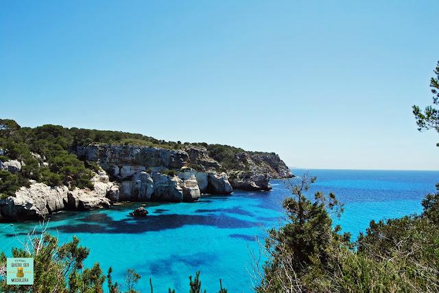 Vistas de camino a la Cala Macarelleta, Menorca