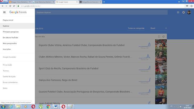 Google Trends clique em explorar