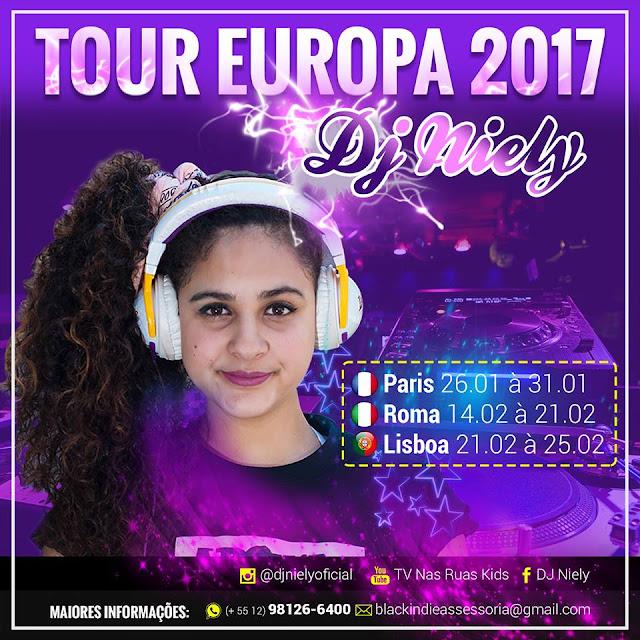 Com apenas 14 anos, DJ Niely anuncia turnê pela Europa