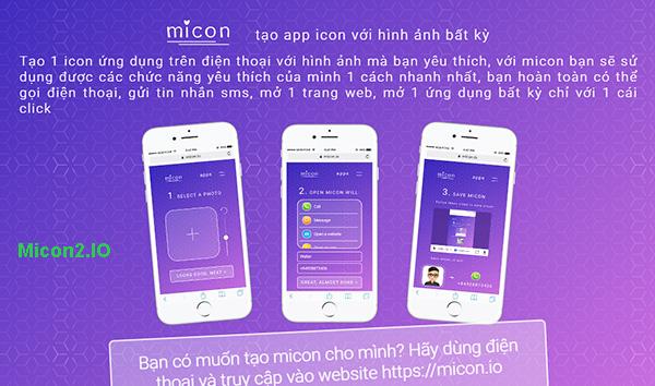 Micon. io - Ứng dụng tự tạo icon online trên Android, iPhone miễn phí a