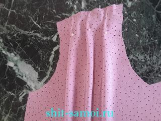 Закладка защипов на блузке