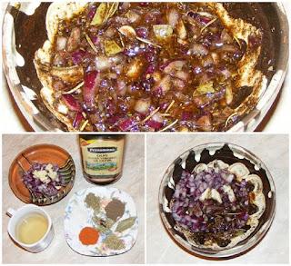 preparare bait friptura carne porc, retete cu legume si plante aromatice pentru friptura porc, retete culinare,