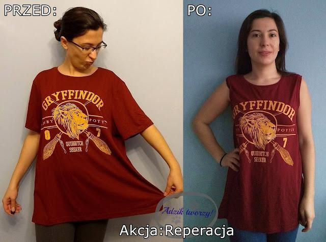 Akcja Reperacja u Adzika - za duża bluzka jak zmniejszyć