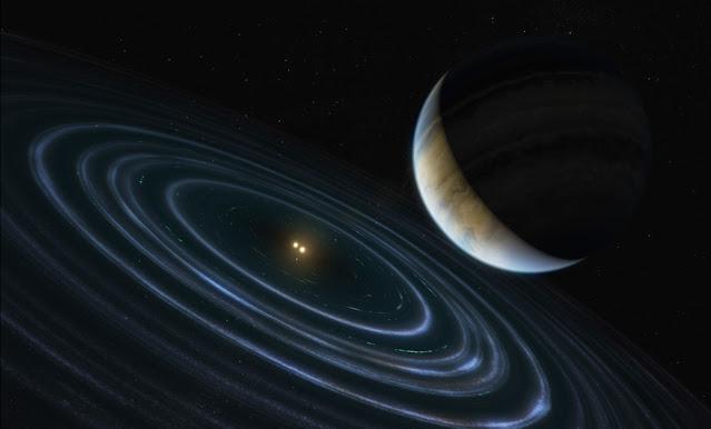 Ilustração artística do exoplaneta HD 106906 b