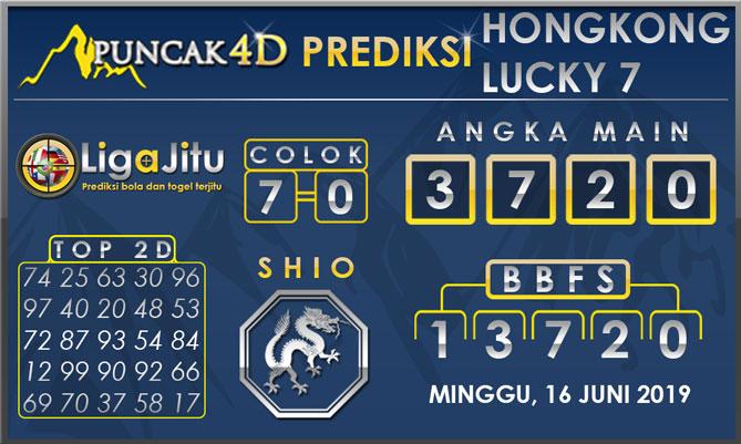 PREDIKSI TOGEL HONGKONG LUCKY7 PUNCAK4D 16 JUNI 2019