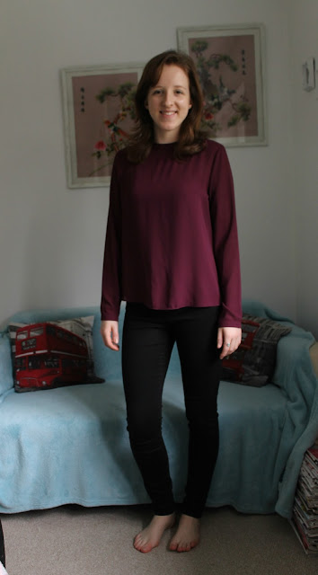 Winter Primark and Pull & Bear Haul, Primark, Burgundy, Top, Blouse, Sheer, Top, Fashion, Blog, Blogger
