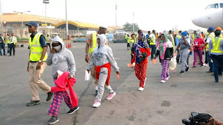 Nigerian Refugees returns from libya: