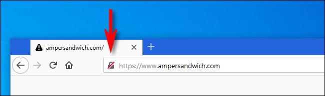 في Firefox ، انقر فوق رمز القفل بجانب عنوان موقع الويب.