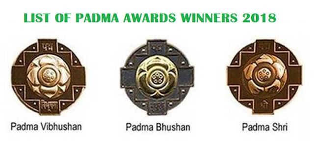 List of Padma Award Winners 2018 Announced