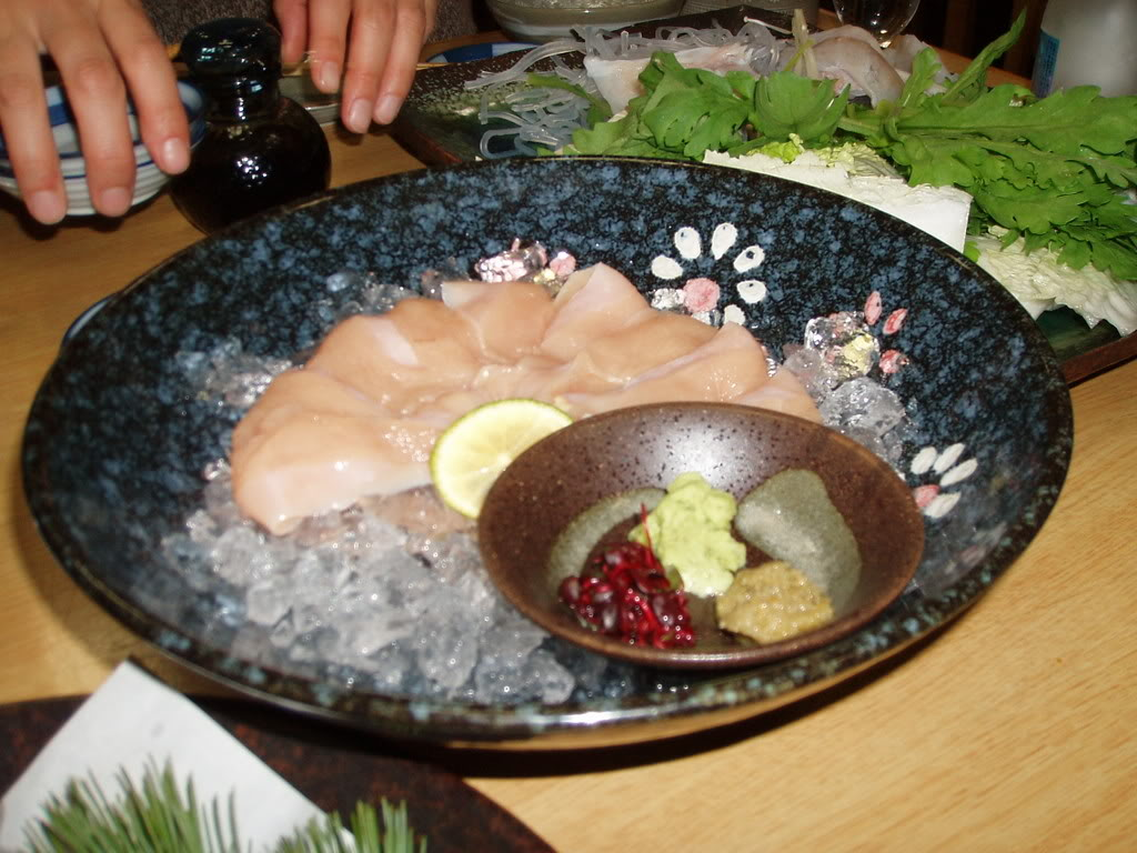 Picture of a prepared fugu dish.
