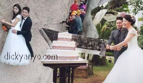 Gak Biasa! 5 Foto Pernikahan Paling Aneh dan Unik, No 3 Mah Menantang Banget Cuy