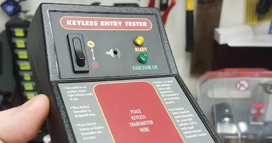 Troubleshooting Using A Keyless Remote Tester