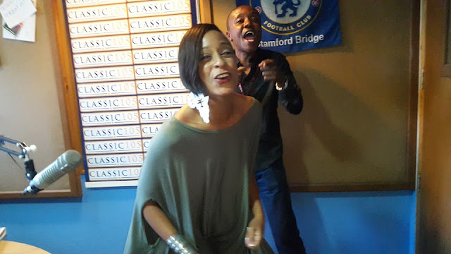 Photos - Jamaican Songwriter Alaine Hangs Out With Classic 105 FM's Maina Kageni