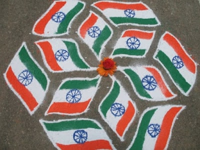 india flag republic day rangoli