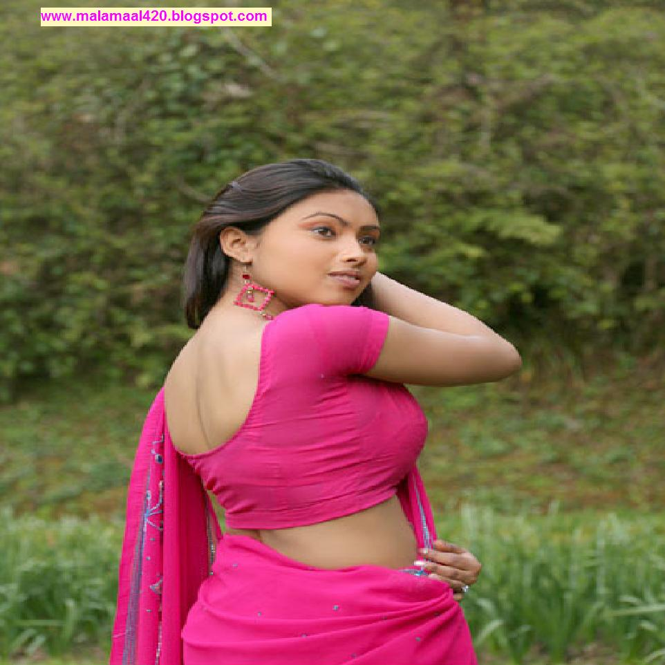 Srijana Mallu Aunty Hot In Pink Blouse Hot Pictures  Hot -4846