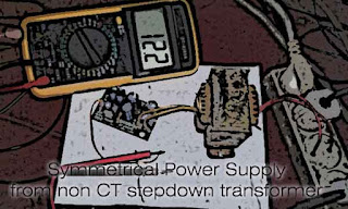 Symmetrical Power Supply from NonCT Transformer