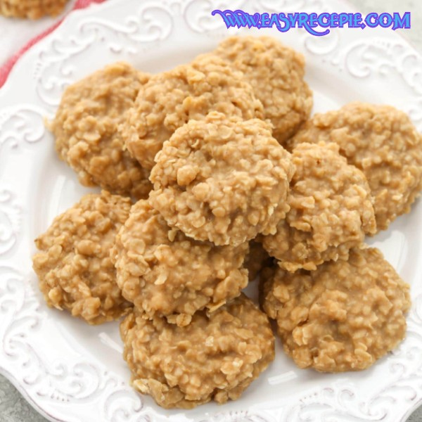 Healthy and Easy Peanut Butter no-bake cookies