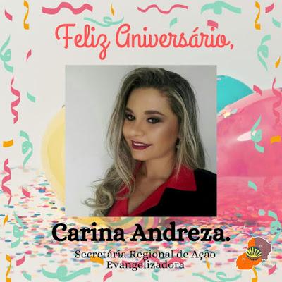 ANIVERSÁRIO DE CARINA ANDREZA