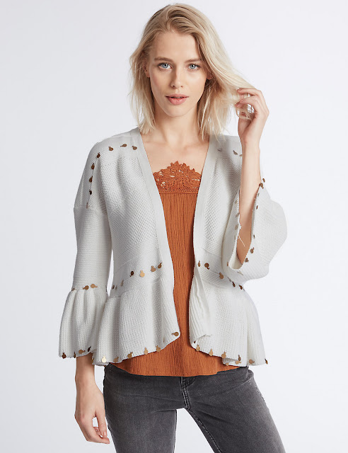 white boho summer cardigan