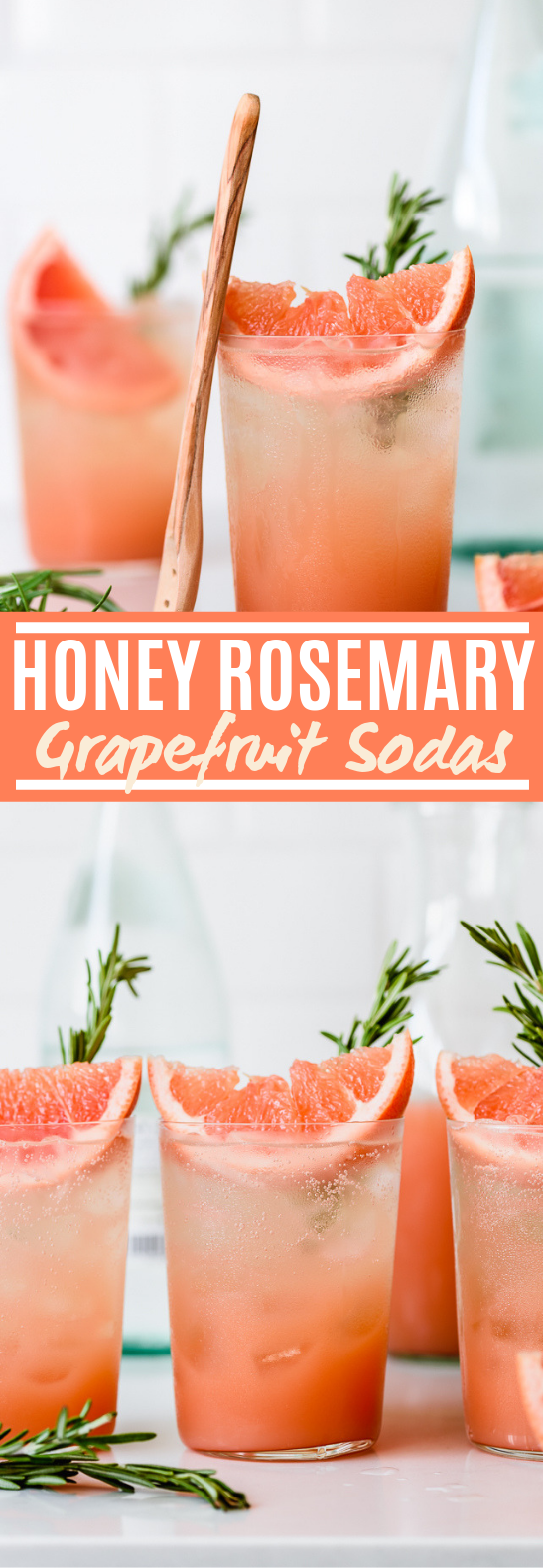 Honey Rosemary Grapefruit Sodas #drinks #nonalcohol