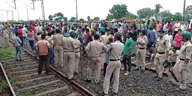 मप्र में भारत बंद: ट्रेन रोकी, टायर जलाए, चक्काजाम, पुलिस से झड़प | MP NEWS