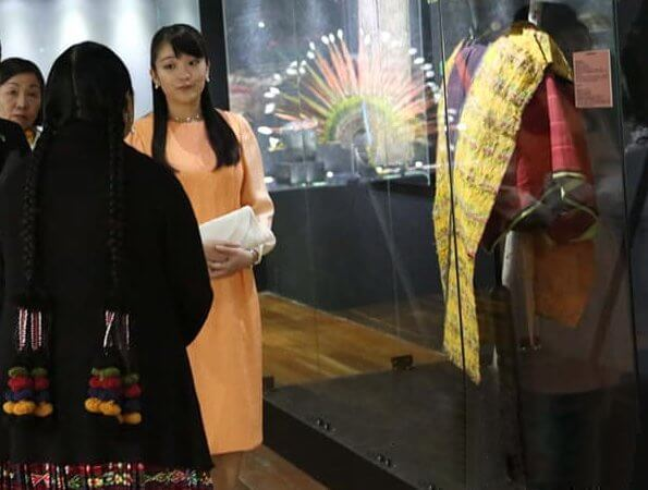 Princess Mako visited the National Museum of Ethnography and Folklore (Musef)