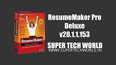 ResumeMaker Pro Deluxe v20.1.1.153