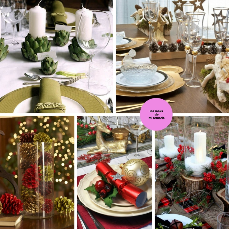 Mesa de navidad decoracion los looks de mi armario - Como poner la mesa en navidad ...