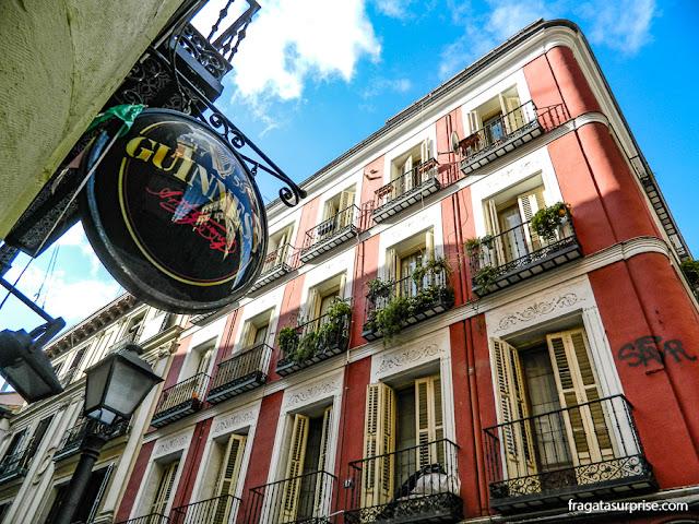 Bar no bairro de Malasaña, Madri