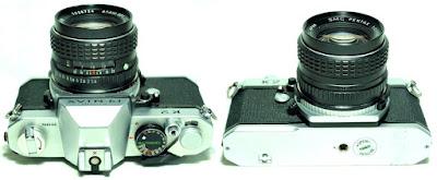 entax K2 (Chrome) Body #142, SMC Pentax 50mm 1:1.4 #724