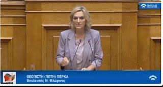 Τοποθέτηση της Πέτης Πέρκα στην ειδική κατεπείγουσα συνεδρίαση του δημοτικού συμβουλίου Φλώρινας για το προσφυγικό – μεταναστευτικό