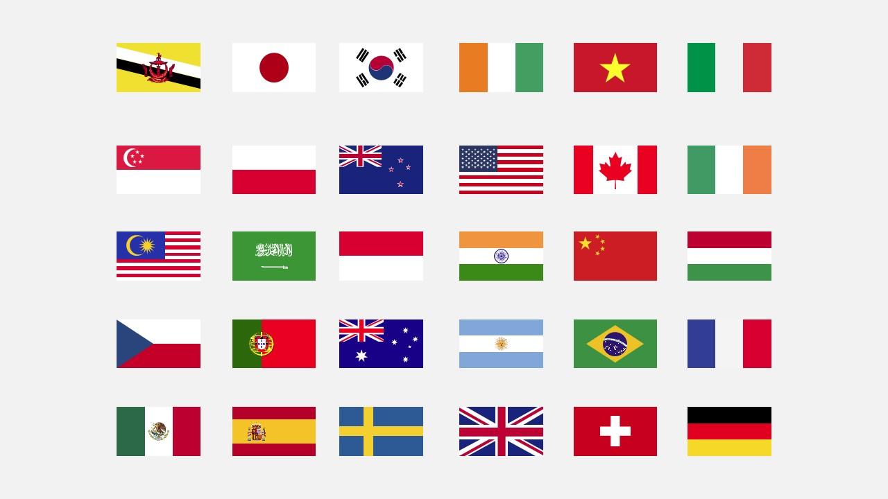 بوربوينت اعلام الدول