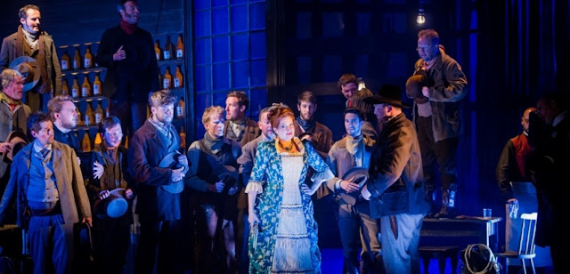 Grange Park Opera - La Fanciulla del West - Claire Rutter & ensemble - photo Robert Workman